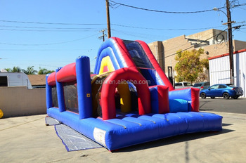 Commercial 30ft Inflatable Obstacle Course Bounce House Moonwalk Waterslide