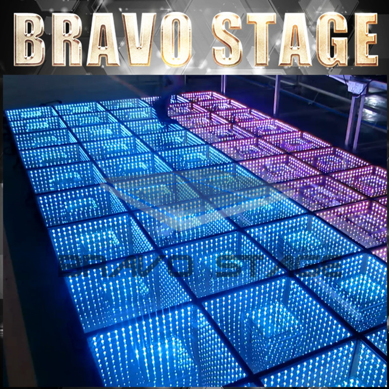 Bravo Stage Ce,Saa,Rohs,Ul,Fcc Certification And Led Light Source Temperglass Led Dance Floor