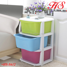Space saving 3layers storage organizer box plastic storage drawers