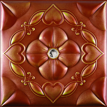eco-friendly materials used interior design leather 3d wall coverings