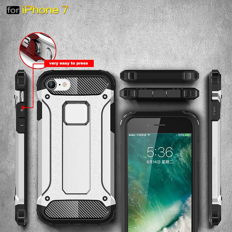 for iPhone 7 Plus case, PC TPU Dual Layer mobile phone Armor Case for iPhone 7 Plus