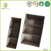 custom plain 3 ply E flute divided cardboard storage boxes with 2 divided inserts