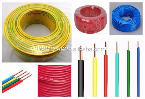 300/450v 450/750V pvc single core kabel