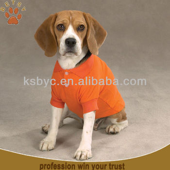 Orange pet polo dog shirt supply