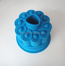 New design flower shaped silicone baking chiffon cake mould