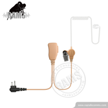 Beige 2 Wire Surveillance Air Tube Headset Hyt Two Way Radio Earpiece for Motorola Radio Communications