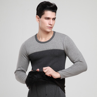 wholesale o neck more warmer Thick Thermals Cashmere mens long johns fleece thermal underwear