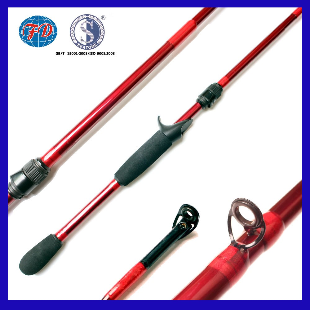 Fashionable Red Color IM7 Blank Carbon Fishing Rod