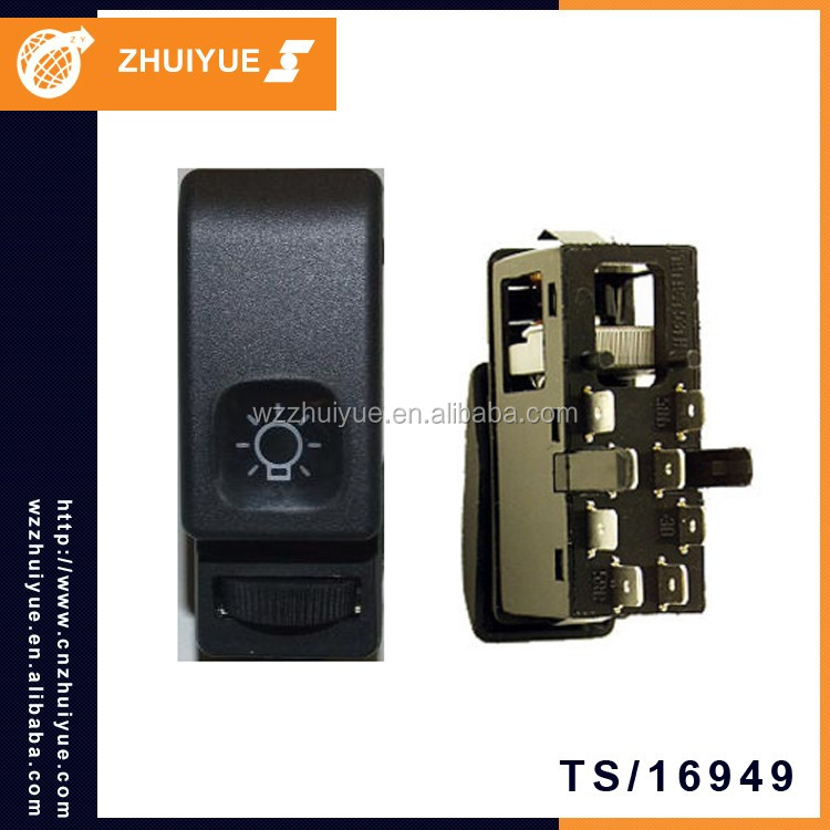ZHUIYUE 191 941 531H Headlight Switch 8Pin Custom Made Car Parts For GOLF JETTA