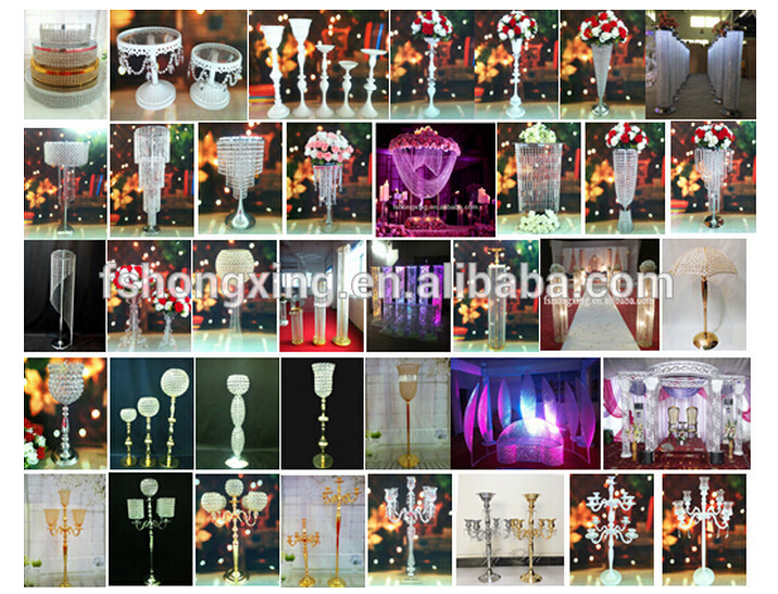 new fashion elegant crystal tall flower stand for wedding table decoration wedding flower stand centerpieces