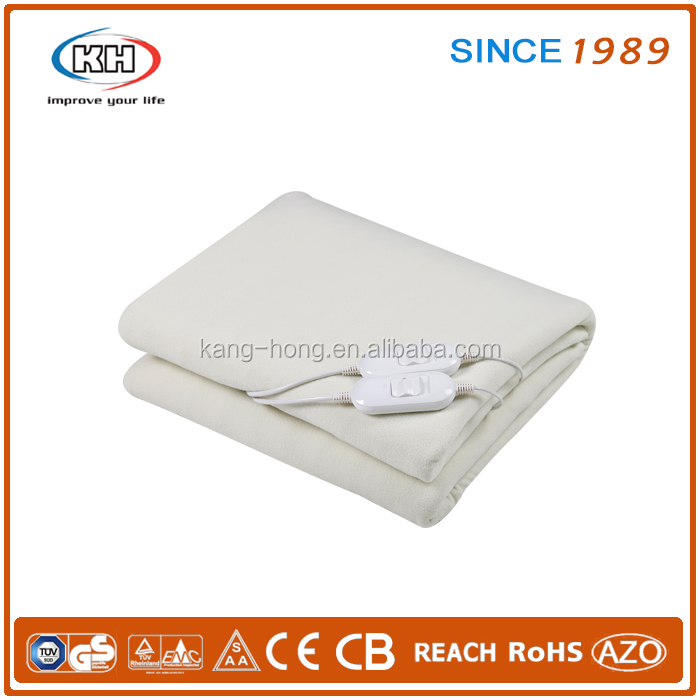 Polar fleece(Beige) double blanket electric