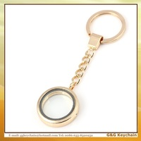 Factory outlet MK 002 Metal Floating Locket Charms Photo Frame Haning Key Chain