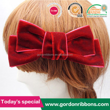 Red velvet hair bows with clips,velvet ribbons and bows, velvet hair bows for children