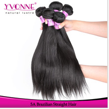 Factory price unprocessed virgin grade 5a brazilian straight hair