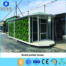 Portable and Small prefab house made of light steel with panel