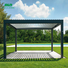 outdoor pergola waterproof louvered roof system