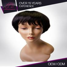 Human Machine Made 100% Full Cuticle Short Integration Brazilian Human Hair Wig With 100% Remy Human Hair