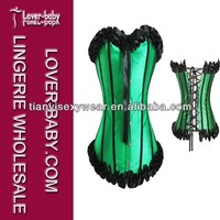 Superpower Design Green Overbust Satin Japanese Corset
