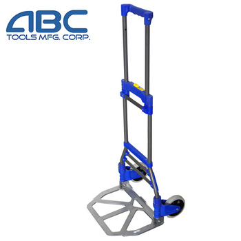 Fold up luggage cart aluminum folding shopping cart two wheels