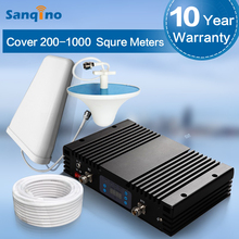 Sanqino Powerful 4G LTE 700 Signal Repeater 70dbi LCD Display 4G Repeater 700mhz Cell Phone Signal Boost 20dBm 4G Booster Set