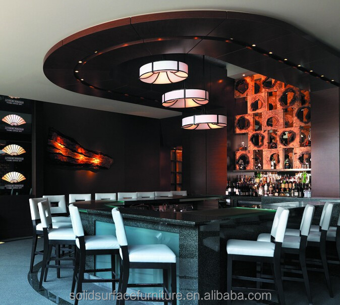 Modern Commercial Bar And Lounge Furniture,Straight U Shape Bar ...