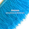 Ostrich Feather Fringe in Blue Feathers, Ostrich feather fringe FOR costume applique ribbon trimming