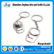 new idea cute couple keyring metal sport hat shape baseball keychain