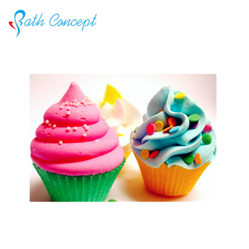 private label cupcake attractive colorful bath fizzy cute bath bomb