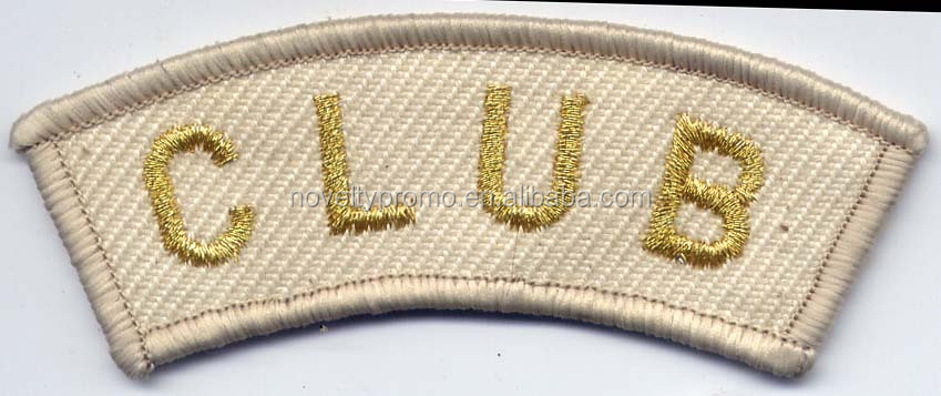 Good Quality 3D Embroidery Letters Patch