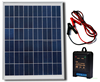 20Watt 18v Solar Panel + Charge Controller Regulator + Battery Clips