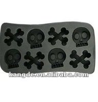 Skull Cross Shape Silicone Ice Cube Tray