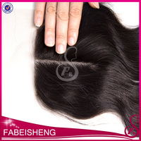 6a grade Wholesale direct from factory middle part straight brazilian remy hair 14'' lace top closure hair piece
