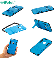2 in 1 pc tpu Slim Armor mobile phone case with Kickstand for iPhone 6s