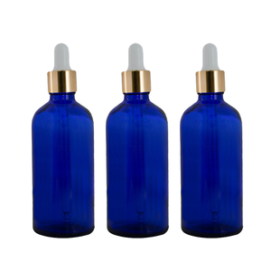serum 30ml 100ml 60ml blue glass dropper bottle Amber blue green clear color spray essential oil cosmetic glass bottle