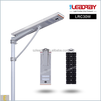 bottom price of 30w solar street light all in one street led lamp 30w