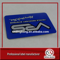 Customized Cheap Name Card Holder Type And Laser Cut Process High Definition Text Printed Aluminum Metal Business Card