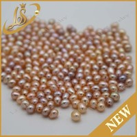 Natural 3x5mm AA perfect round nice luster fresh water pearl