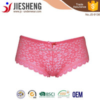 Hot selling full lace sexy lady panty manufacture in China, JS9136(Accept OEM)