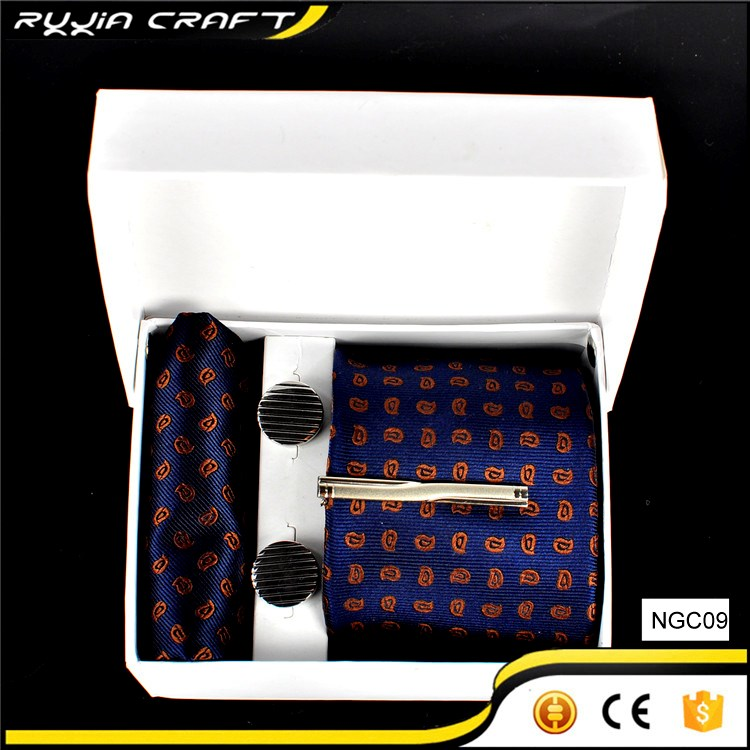Men's Fashion High Quality Silk Tie Set