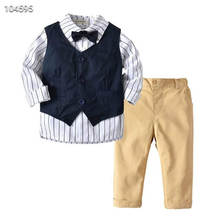 2019 foreign boy suit spring and summer new three-piece <strong>children's</strong> clothing <strong>set</strong> <strong>children's</strong> shirt <strong>children's</strong> vest