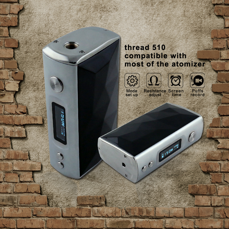 TG new products mystic cigarette e health cigarette,hot new box mod Pyramid 150w TC fast charging cigarette