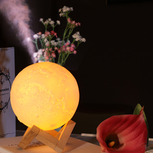 3D printing luna shaped moon lamp touch the moon light creative gift led night light rechargeable table lamp