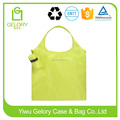 Promotion polyester material handle style fold up nylon bag
