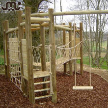 Park o& backyard kids wooden playground bridge