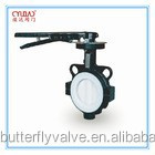 Handle wafer concentric rubber lined butterfly valve