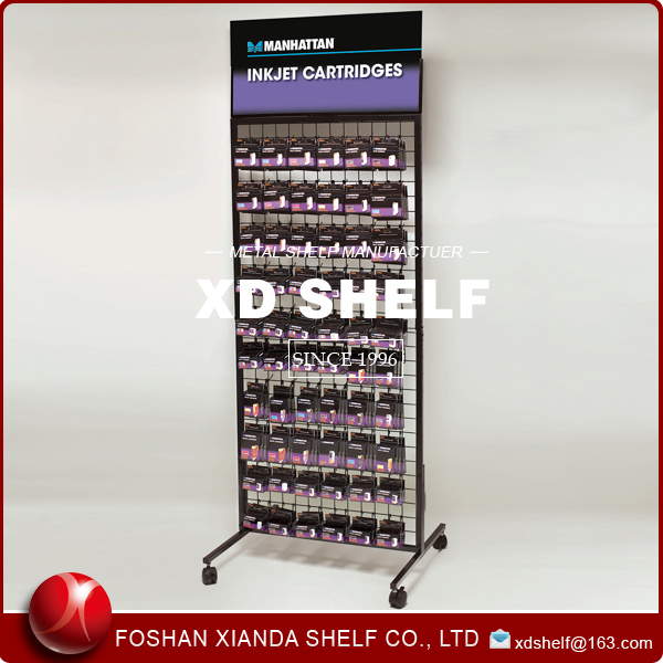 Retail Metal Pegboard Spinning Display Stand