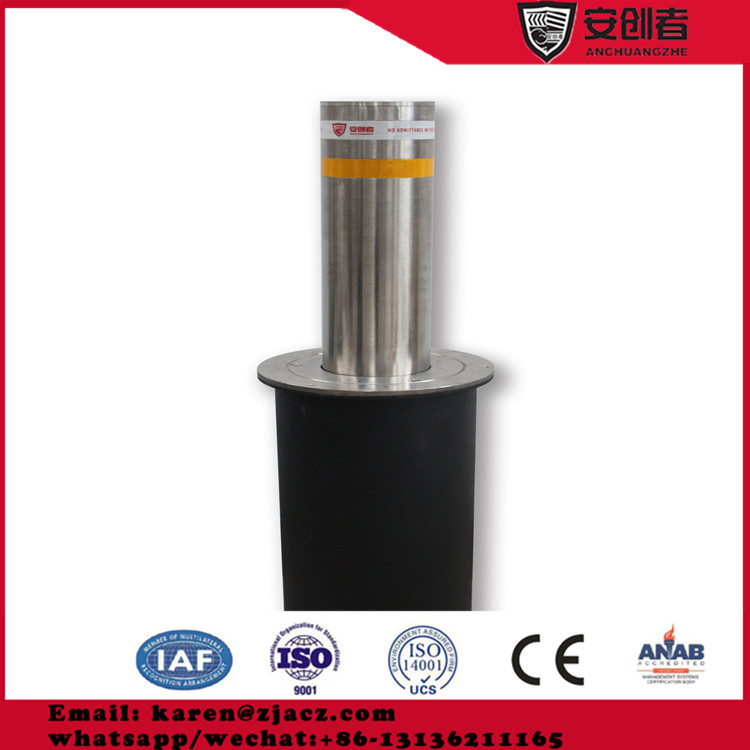 Car parking control security automatic hydraulic bollards stainless steel light bollard