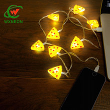 Gift Micro USB Pizza cellphone charging cable for Iphone for android