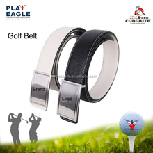 Custom Genuine Leather Double Sided Pin Buckle Sports Golf Waist Belt Baseball Leather Golf Belt