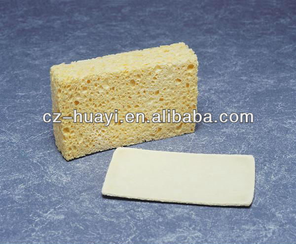 Natural Compressed Cosmetic Biodegradable Cellulose Foams sponge